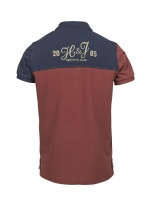 Hansen&Jacob Rough Style Polo Dark red