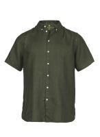 Hansen&Jacob Shirt Linen Short Sleeve Green