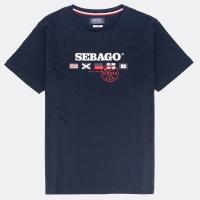 Sebago Flag Logo Tee Bright Navy