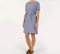 Sebago Linen Jersey midi dress Blue/offwhite