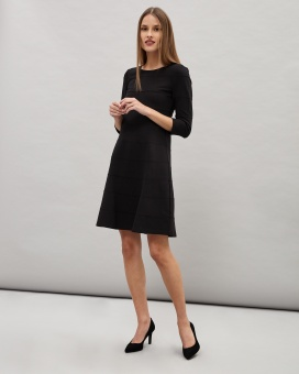 Newhouse Preppy Long Sleeve Dress Svart