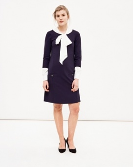 Newhouse Office Dress Navy
