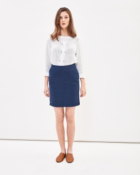 Newhouse Chino skirt Navy
