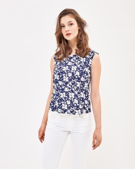 Newhouse Flower Top Navy