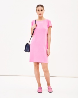 Newhouse Iris Dress Bright Pink