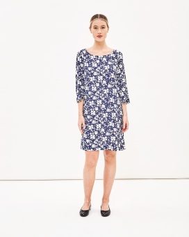 Newhouse Flower Dress Navy
