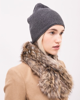 Newhouse Autumn fur collar Autumn Khaki
