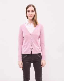 Newhouse Lambswoll Cardigan Light Pink