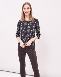 Newhouse Flower Top Black