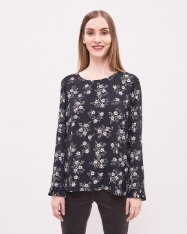 Newhouse Flower Blouse Black