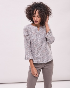 Newhouse Liberty Blouse Light Grey