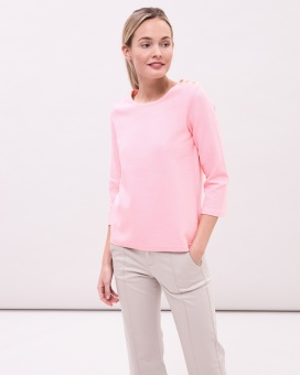 Newhouse Boatneck Sweater Hortensia Pink