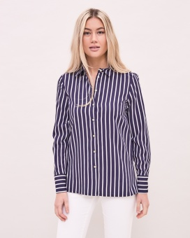 Newhouse Striped Blouse Navy