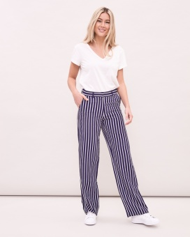 Newhouse Striped Pants Navy