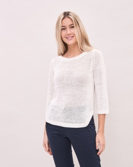 Newhouse Sienna Knit Top White