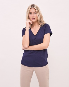 Newhouse V-Neck T-Shirt Navy