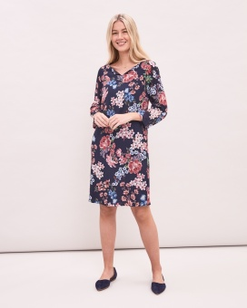 Newhouse Rose Dress Navy