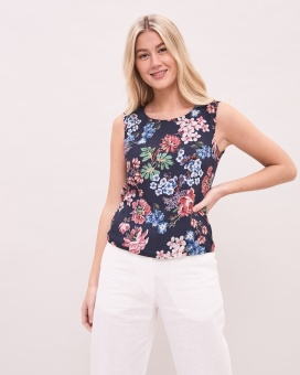 Newhouse Rose Top Navy