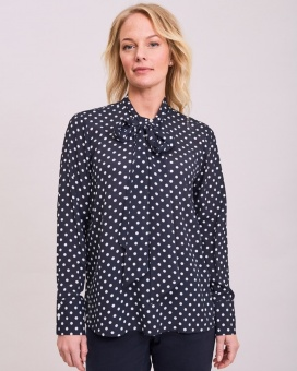 Newhouse Dot Blouse Navy