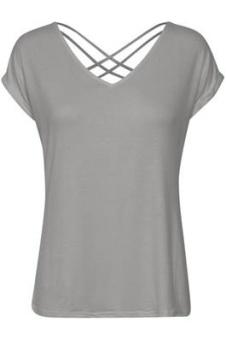 Cream Adriana T-shirt Light Grey melange