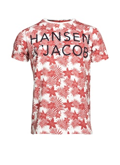 Hansen&Jacob Hj Flower Tee Red