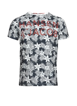 Hansen&Jacob HJ Flower Tee Navy