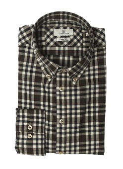 Hansen & Jacob Shirt Multi Overcheck Yukon Green