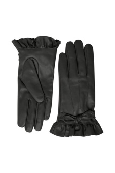 Cream Annelie Gloves Pitch Black