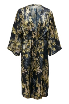 Cream Monique Pitch Black Kaftan