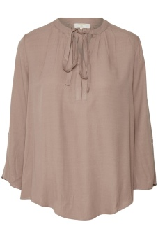 Cream Vera 3/4 sleeve Blouse Deep Powder