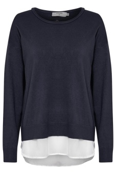 Cream Tammy Pullover Royal Navy Blue