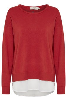 Cream Tammy Pullover Scarlet Orange