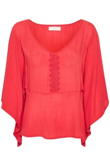 Cream Allie Blouse Cranberry