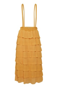Cream Sunflounce Dress Cornsilk Yellow