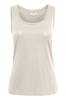 Cream Naia o-neck tank top Lead Grey