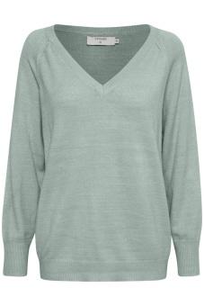 Cream Lorenza Knit Pullover Soft Green