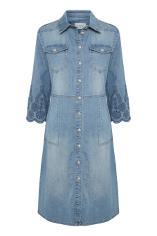 Cream Rosita Denim Dress Light Blue denim