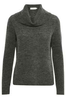 Cream Kaitlyn Turtleneck Dark Grey Melange