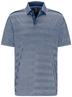 Fynch Hatton Polo Mercerized stripe midnight