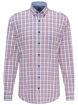Fynch Hatton navy-red check