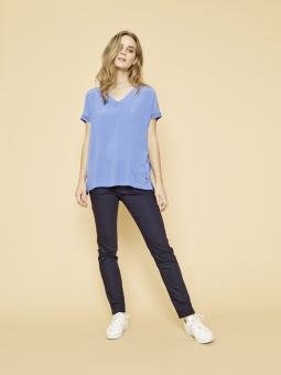 MosMosh Belle Silk Tee Ultramarine