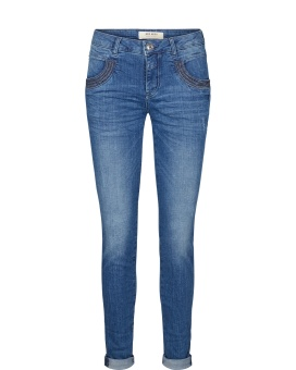 Mos Mosh Naomi Shine Stitch Dark Blue Denim