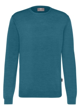 Fynch Hatton, O-neck, pure merino wool, Glacier
