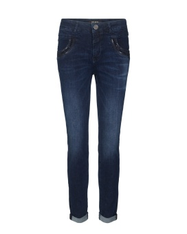 Mos Mosh Naomi Shine Jeans Dark Blue Denim