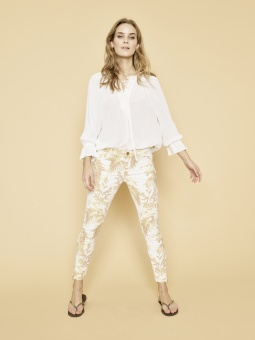 Mos Mosh Cannes Pant Soft Lemon Print