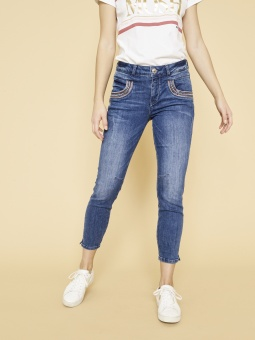 Mosmosh Naomi Muscat 7/8 jeans Blue Denim