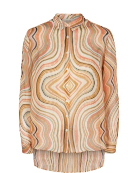 MosMosh Taylor Swirl Shirt Sun Orange Printed