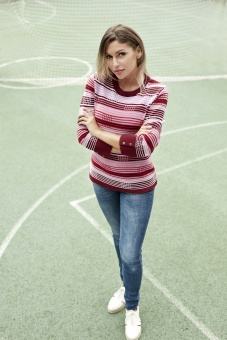 Skovhuus Striped jumper Blomme