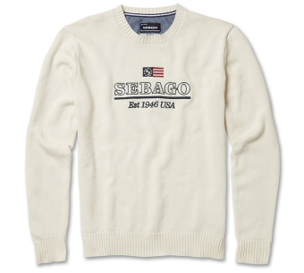 Sebago kaler crew neck, light sand