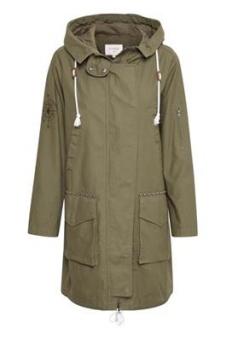 Cream Mirabel Jacket Parka Coat Burnt Olive